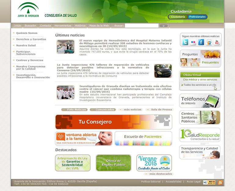 Consejería de Salud. Junta de Andalucía